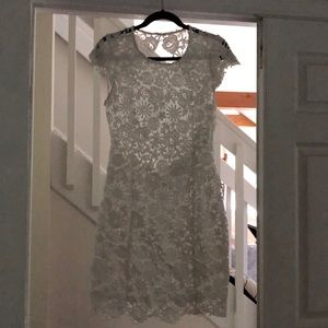 Lulus White Backless Lace Dress